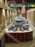Turbine generators. At the Hoover Dam Stock Photos