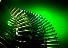 Turbine with green background. Turbine on green background. 3d rendering Royalty Free Stock Photos