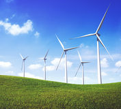 Turbine Green Energy Electricity Technology Concept Stock Photo
