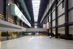Turbine Hall interior in Tate Modern Art Gallery in London Stock Photos