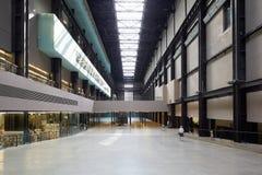 Turbine Hall interior in Tate Modern Art Gallery in London Stock Photos