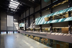 Turbine Hall in Tate Modern Art Gallery interior in London Stock Images