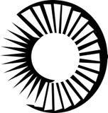 Turbine. Jet engine turbine - black and white illustration royalty free illustration