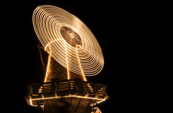 Turbine lighting. Isolate turbine lighting on black background royalty free stock photography