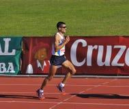 Turbine non identifiée dans demi de marathon Córdoba photo stock