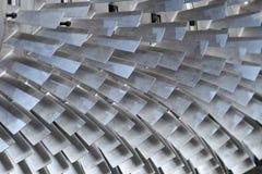 Turbine rotor blades. Close up turbine blades texture background royalty free stock photos