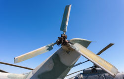 Turbine of russian transport helicopter Royalty Free Stock Photos