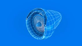 Turbine slice construction. Turbine slice HD high quality animation stock footage