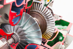 Turbine structure colorful model Royalty Free Stock Images