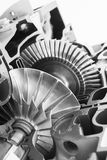 Turbine structure model, black and white Royalty Free Stock Photography