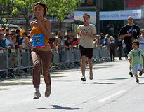 Turbine sur le 22ème marathon 2009 de Belgrade Photo libre de droits