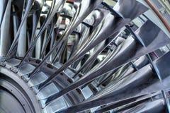 Turbine. Turbo-jet engine of the plane, close up Stock Photography