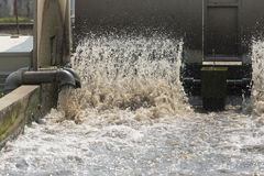 Turbine in waste water treatment plant. Stock Image