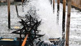 Turbine water in running. stock footage