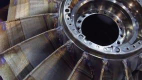 Turbine wheel made by innovative 3D printing method. stock footage