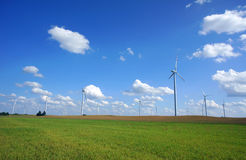 Turbine in wind farm Royalty Free Stock Photography