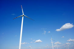 Turbine in wind farm Royalty Free Stock Photos