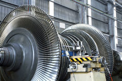 Turbine at workshop. Steam turbine at workshop station Royalty Free Stock Photos