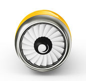 Turbine. Yellow turbine on a white background vector illustration
