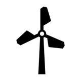 Turbineenergie geïsoleerd pictogram Royalty-vrije Stock Afbeelding