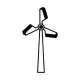 Turbineenergie geïsoleerd pictogram Royalty-vrije Stock Afbeeldingen