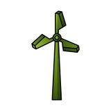 Turbineenergie geïsoleerd pictogram Stock Fotografie