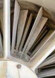 Turbinenschaufeln und Innere, die eine Nahaufnahme des Strahltriebwerkmilitärs planieren Stockbilder