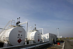 Turbinentreibstoff A-1kerosinbecken Lizenzfreie Stockfotos