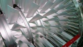 Turbinentriebwerk mit Querschnitt mit inneren Teilen Stockbild