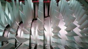 Turbinentriebwerk mit Querschnitt mit inneren Teilen Lizenzfreie Stockfotografie