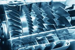 Turbinentriebwerk-Profil Luftfahrt-Technologien stockfotos