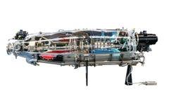 Turbinentriebwerk-Profil Luftfahrt-Technologien stockfoto