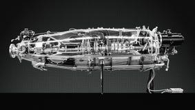 Turbinentriebwerk-Profil Luftfahrt-Technologien stockbilder