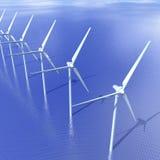 Turbiner för frånlands- vind Royaltyfria Bilder
