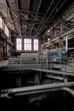Turbines binnen Steenkoolelektrische centrale - Indiana Army Ammunition Depot - Indiana stock foto