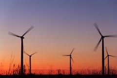 Turbines d'énergie éolienne Photo libre de droits