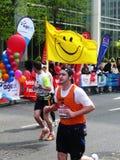 Turbines d'amusement au marathon le 25 avril 2010 de Londres Images libres de droits