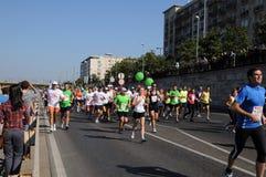 Turbines dans le marathon à Budapest Photographie stock