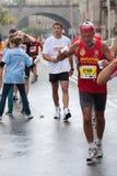 Turbines dans le trente-deuxième marathon de Varsovie Photos stock