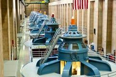 Turbines de barrage de Hoover Images libres de droits