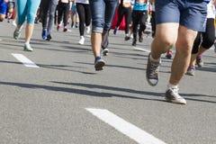 Turbines de marathon Photographie stock libre de droits
