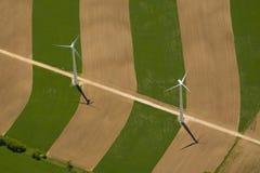 Turbines de vent Photos stock