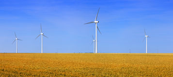 Turbines de vent photographie stock