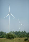 2 turbines de vent Photographie stock