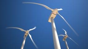 Turbines de vent avec les lames tournantes Image stock