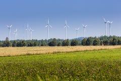 Turbines de vent dans Suwalki poland photos libres de droits