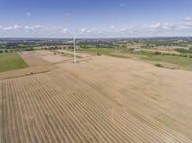 Turbines de vent dans Suwalki poland Vue de ci-avant Jeunes adultes Image libre de droits