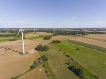 Turbines de vent dans Suwalki poland Vue de ci-avant Jeunes adultes Images libres de droits