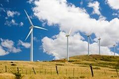 Turbines de vent dans un domaine Image libre de droits