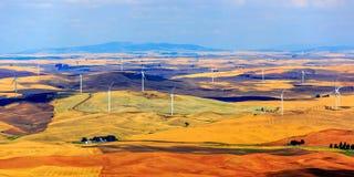 Turbines de vent de bout de Steptoe photos stock